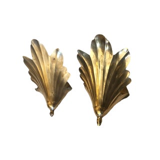 Vintage Brass Wall Sconces - A Pair For Sale