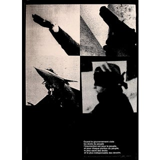 1989 Original Poster for Artis 89's Images Internationales Pour Les Droits De l'Homme Et Du Citoyen - Article 35 For Sale