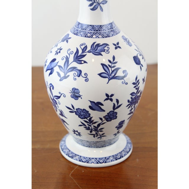 Blue and White Coalport Decanter For Sale - Image 9 of 10