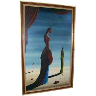 Jorge Noceda Sanchez Surrealist Oil on Canvas