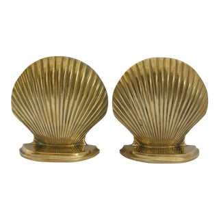 Sea Shell Bookends - A Pair