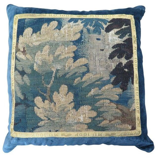 Textile 18th Century Maison Maison Verdure Tapestry Pillow For Sale - Image 7 of 7