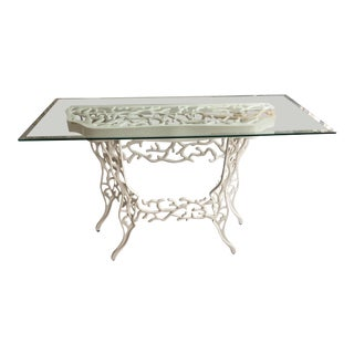 Currey & Company Marjorie Skouras Corail Console Table in White For Sale