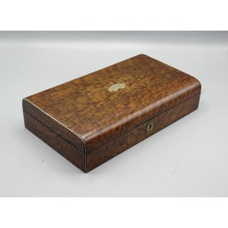 Antique Burl Amboyna Wood Games Box Preview