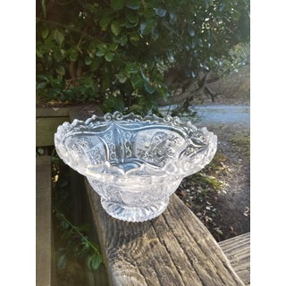 1970s Fanciful Etched Molded Glass Fruit Bowl With Dragon Preview