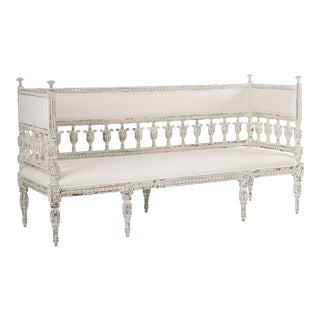Aspen Bench in Off-White For Sale