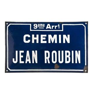 Chemin Jean Roubin French Street Sign