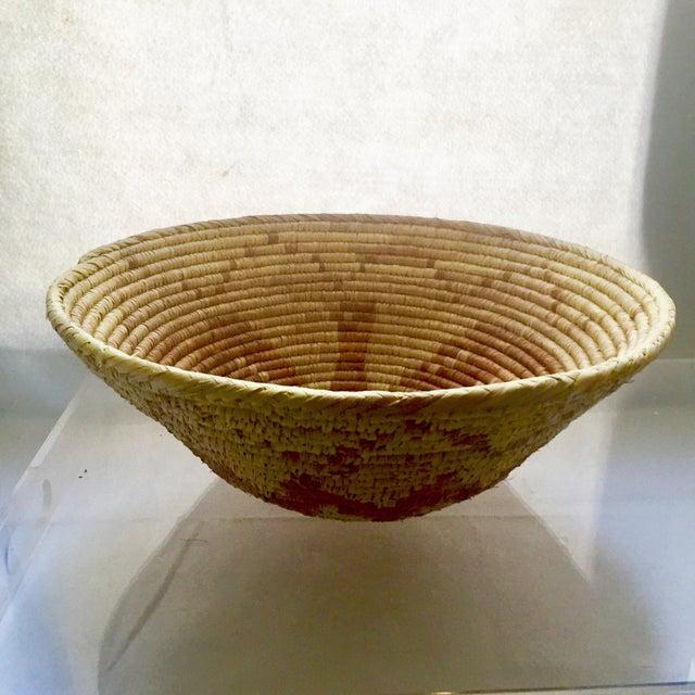 Vintage Native American Apache Pima Coil Basket - Image 7 of 11