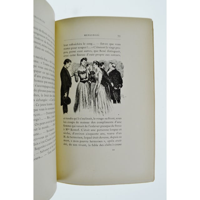 """1896 """"Mensonges"""" Illustrated Book By Paul Bourget - Image 7 of 11"""