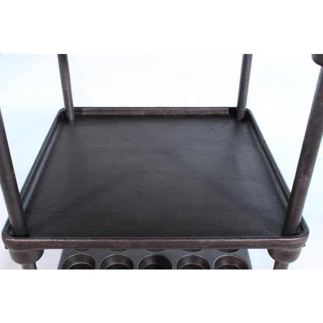 "Cast Iron ""Muffin"" Side Table For Sale - Image 10 of 13"
