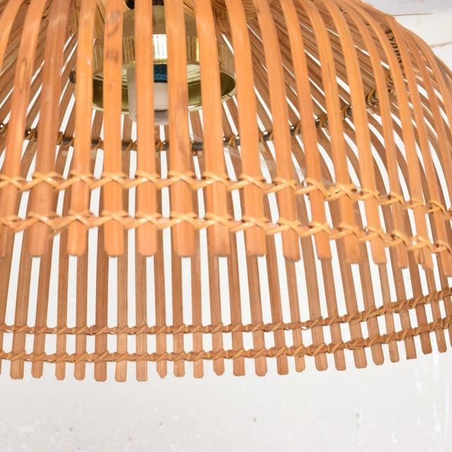 Franco Albini Mid-Century Modern Rattan Pendant Hanging Lamp For Sale - Image 4 of 9