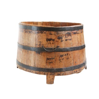 Old Teak & Iron Barrel For Sale