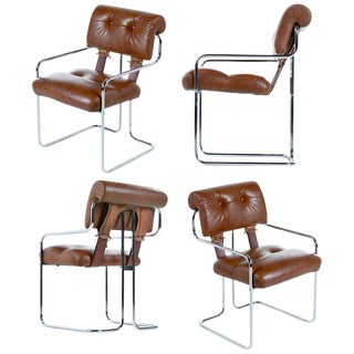 Guido Faleschini 'Tucroma' Chairs for Pace Collection Set of Four For Sale