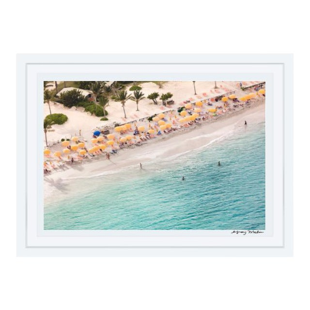 "Gray Malin Large ""St. Maarten Nude Beach"" (à La Plage) Framed Limited Edition Signed Print - Image 1 of 3"