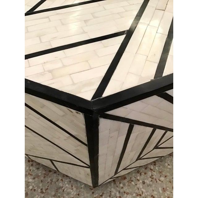 Coffee Modern Tessellated Bone Inlay Geometric Coffee Table For Sale - Image 8 of 11
