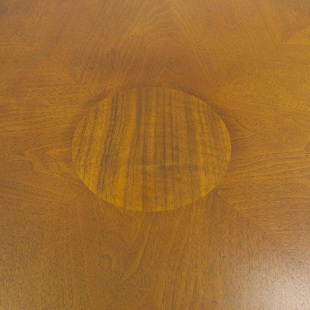 Rare Widdicomb Walnut Coffee or Cocktail Table With Decorative Base For Sale - Image 4 of 8