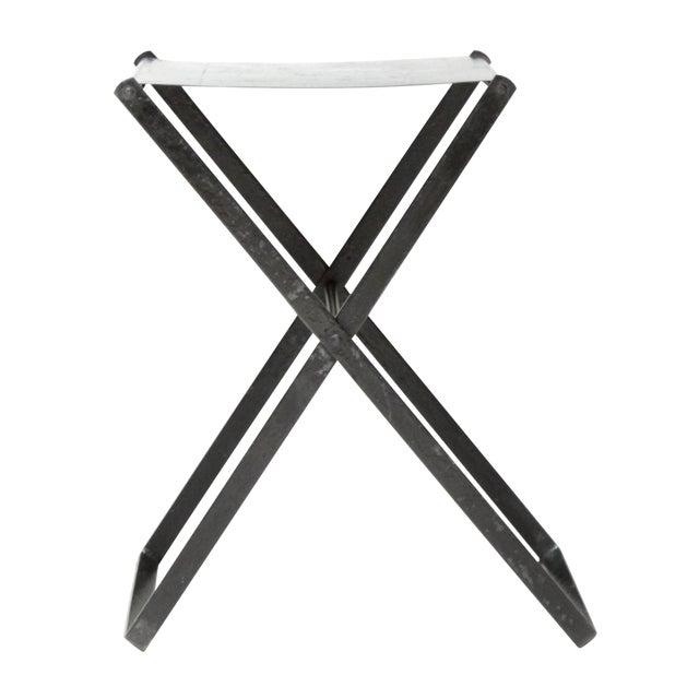 Metal X-Base Side Table - Image 1 of 4