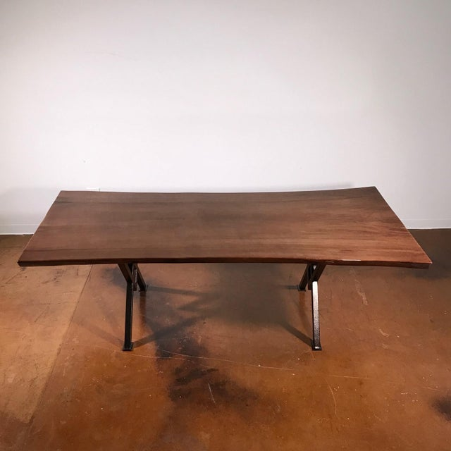 """92"""" Poplar Live Edge Table For Sale In Los Angeles - Image 6 of 8"""
