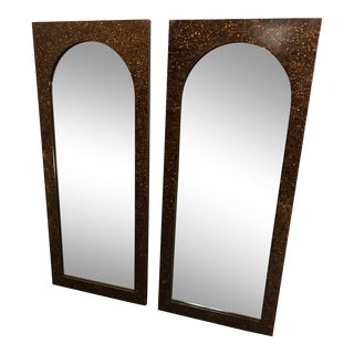 Vintage Arched Wall Mirrors - a Pair For Sale
