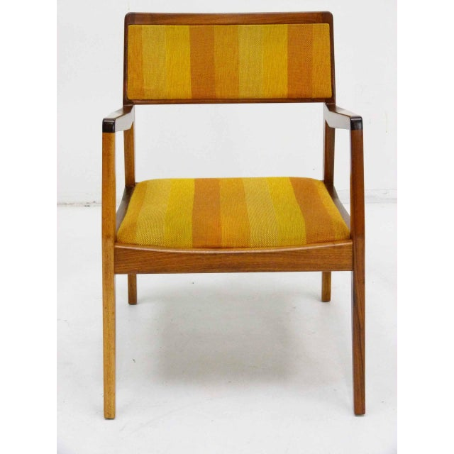 "Jens Risom Oiled Walnut ""Playboy"" Arm Chair - Image 2 of 10"