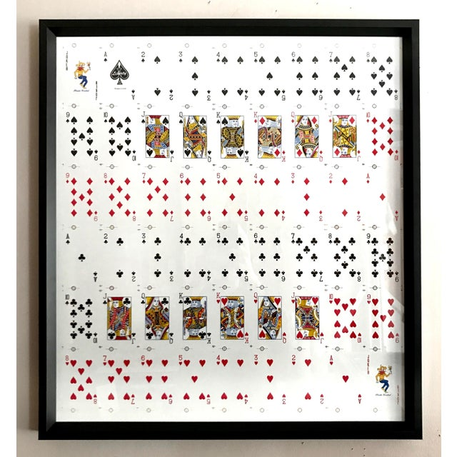 Framed Uncut Set of Playing Cards - Image 2 of 4
