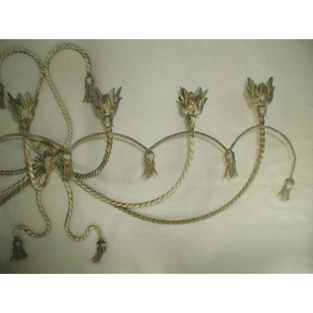 Antique Early 1900's Italian 7 Candle Candelabra Sconce For Sale - Image 6 of 7