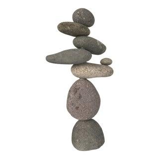 Asian Cairn Rock Sculpture For Sale