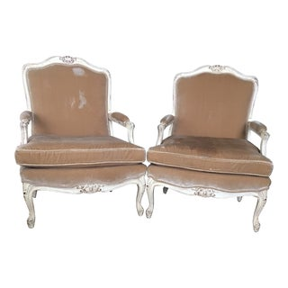 20th Century Bergere Chairs- A Pair For Sale