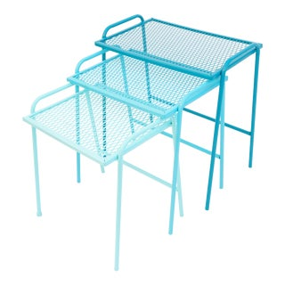 Salterini Gradient Turquoise Nesting Tables - Set of 3