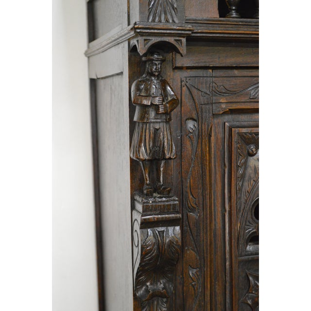 Antique Jacobean Flemish Carved Cabinet - Image 9 of 11