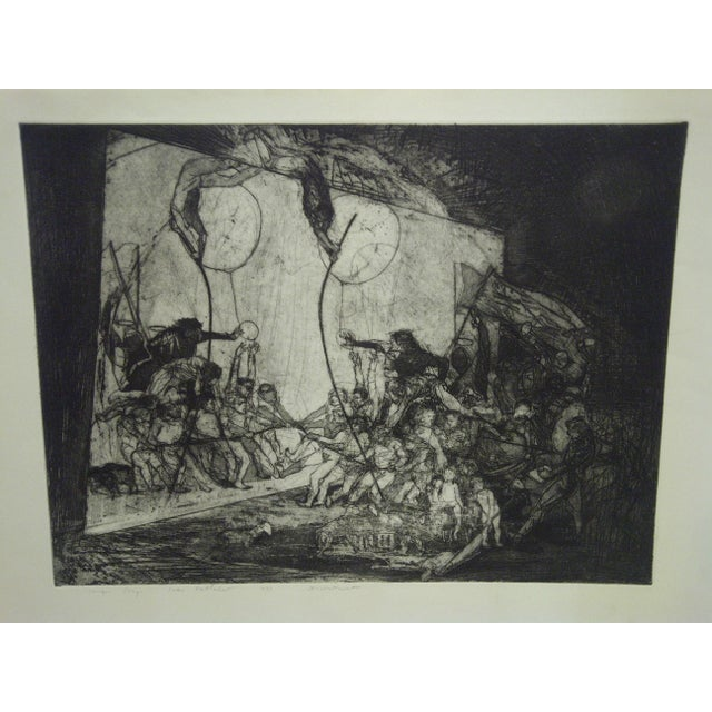 """This is an Original Signed Print - Unique Stage that it titled """"Divertimenti"""" by Ivan Valtchew. This piece would make a..."""