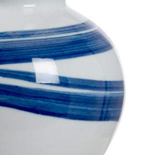 "Blue & White Ceramic Swirl Lamp 22.5""h Preview"