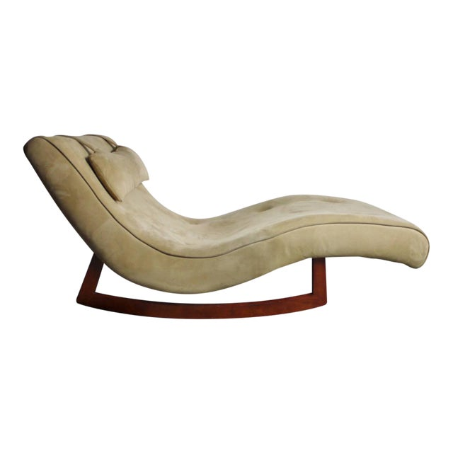 Wave Chaise Lounge Rocking Chair For Sale