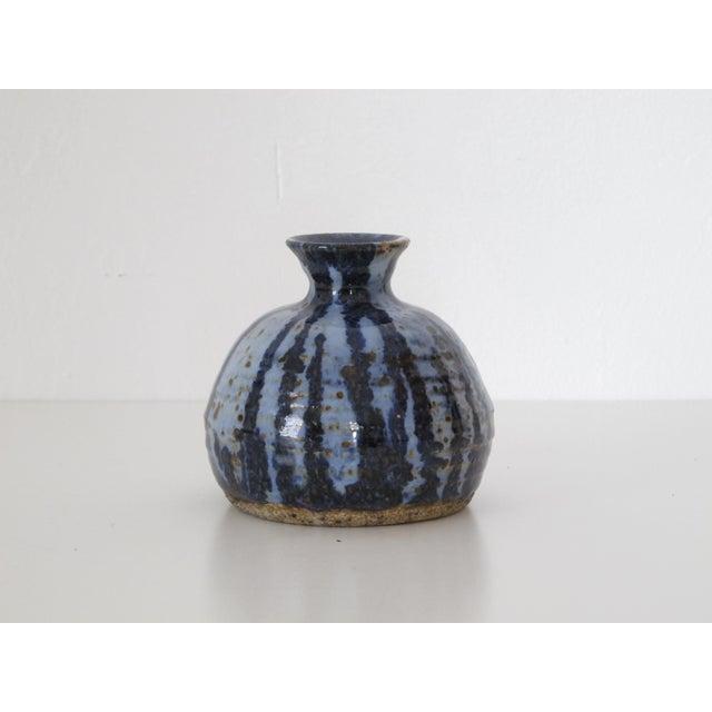 Blue & Navy Drip vase - Image 3 of 5