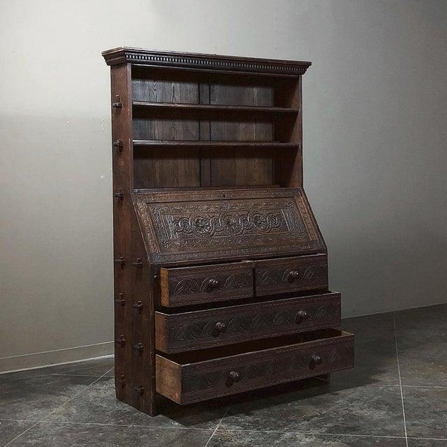 18th Century English Renaissance Secretary Bookcase For Sale In Dallas - Image 6 of 13