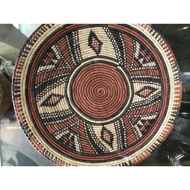African Handmade African Placemats, 7 Set For Sale - Image 3 of 6