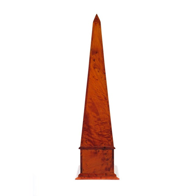 19th C. Large Burl Walnut Obelisks - A Pair For Sale In Los Angeles - Image 6 of 9