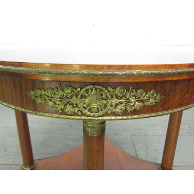 French Mahogany French Gueridon Table For Sale - Image 3 of 6