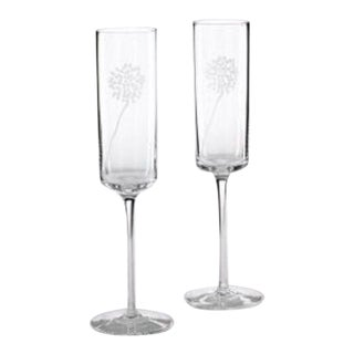 Pair Kate Spade for Lenox Champagne Flutes - New With Factory Stickers For Sale