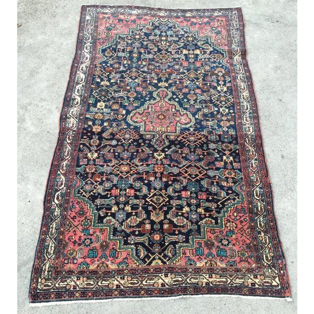 """Antique Persian Rug - 4'1"""" x 6'10"""" - Image 2 of 8"""