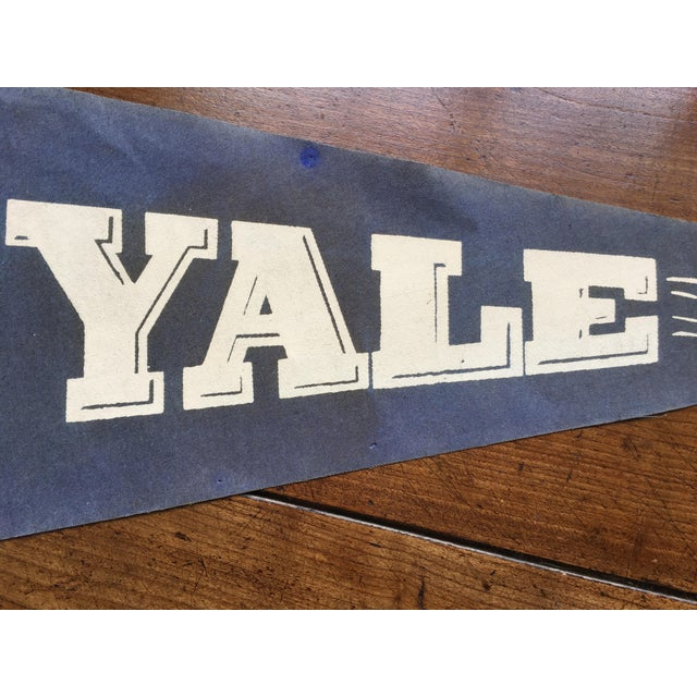 Americana 1930's Yale Football Pennant For Sale - Image 3 of 5