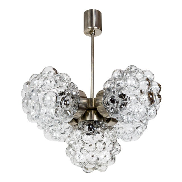 Bubble Glass Cluster Chandelier by Helena Tynell For Sale