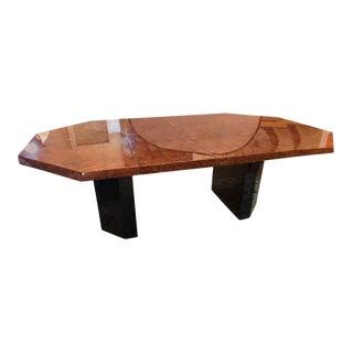 Mid-Century Milo Baughman For Thayer Coggin Burl Walnut Octagonal Dining Table For Sale