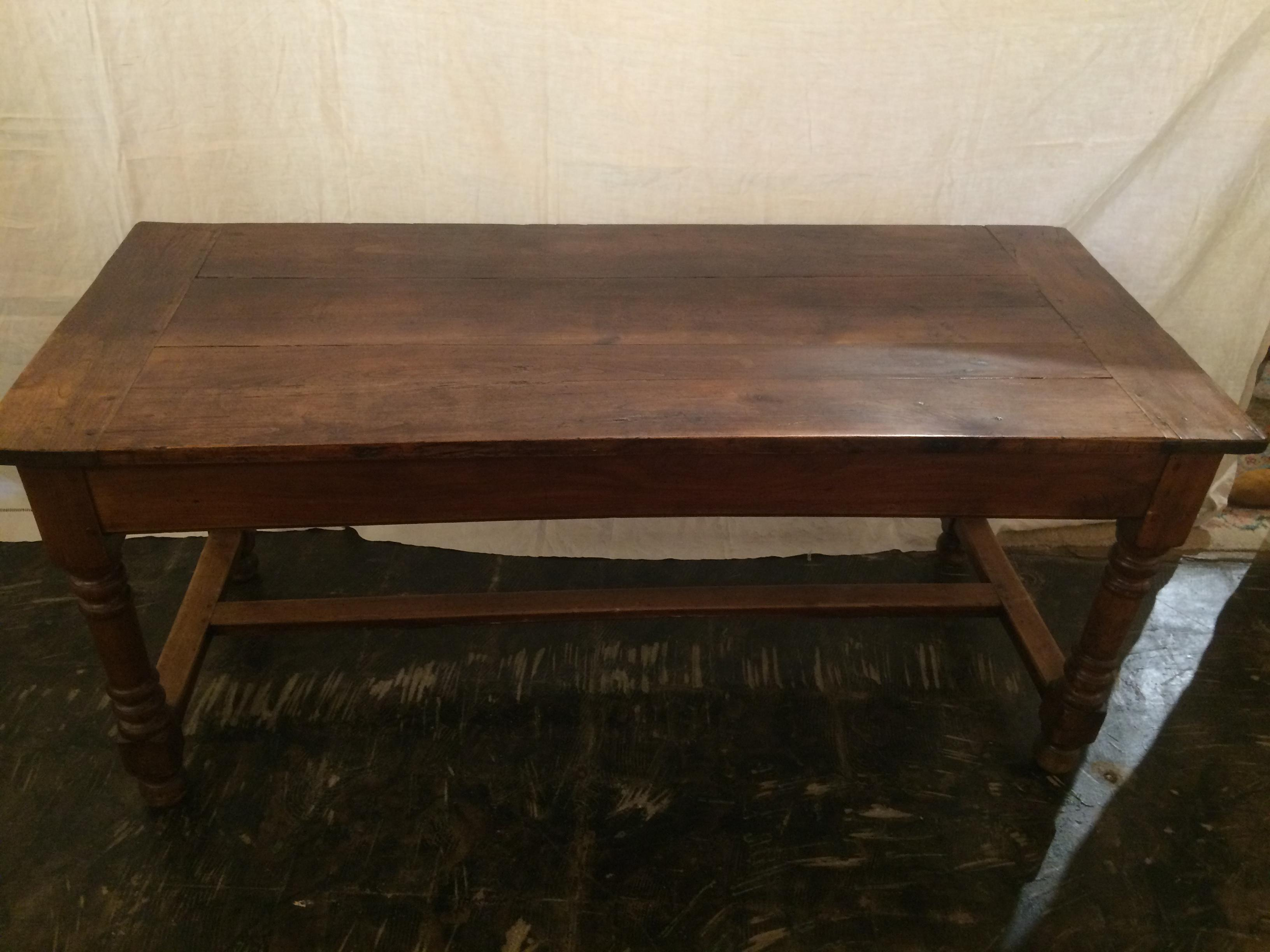 19th Century Walnut Farm Table With Bread Board Ends   Image 5 Of 10