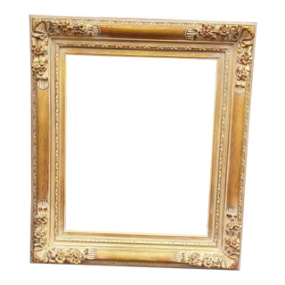 "Large Heavy Wood Baroque Highly Finished Picture Frame/Mirror Frame - Opening Size 20"" X24"""