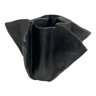 The Black Plaster Pinch Decorative Bowl For Sale