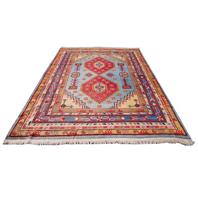 Mid-20th Century Vintage Khotan Rug 6' 10'' X 9' 7''. For Sale - Image 11 of 13