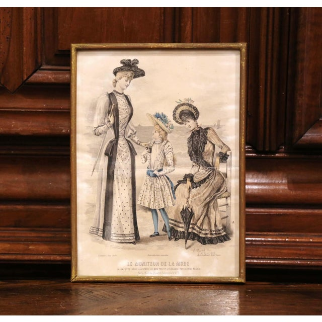 """Decorate a bathroom or a walking closet with this collection of antique """"Mode de Paris"""" fashion prints. Crafted in France..."""