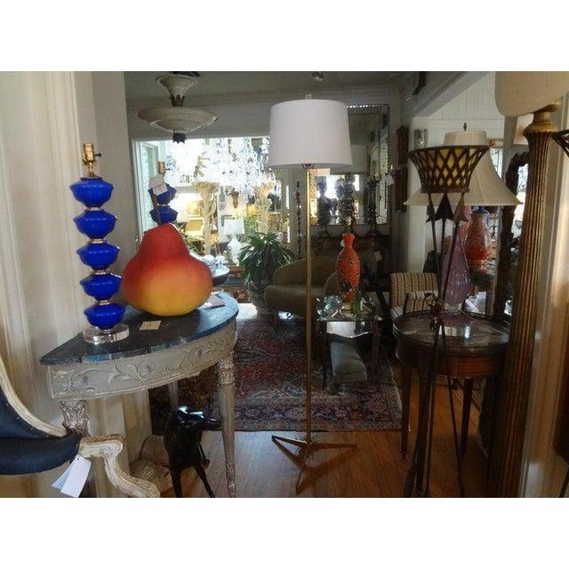 Mid-Century Modern Paul McCobb Style Brass Tripod Floor Lamp For Sale - Image 9 of 12