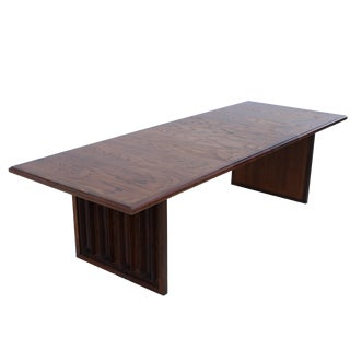 Phillip Lloyd Powell Style Oak and Walnut Dining Table For Sale